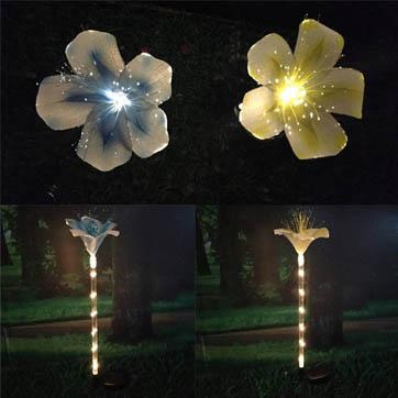 cahaya dekorasi bunga serat optik