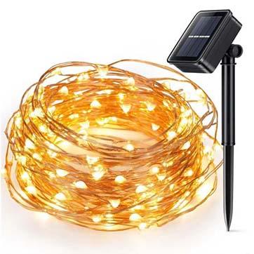 tenaga surya kawat tembaga string ringan