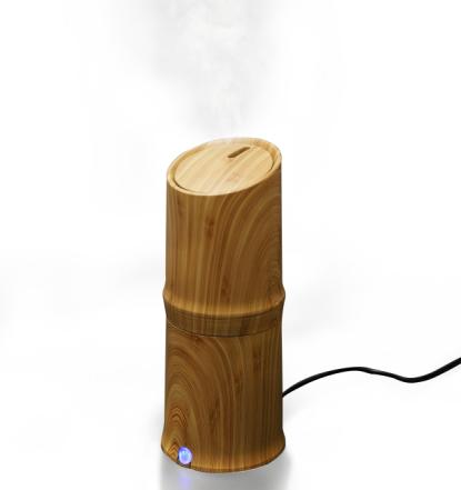300ml Keren Mist Humidifier Ultrasonic Aroma Minyak Esensial Diffuser untuk Kantor Rumah Kamar Tidur Ruang Tamu Studi Yoga Spa - Serat Kayu